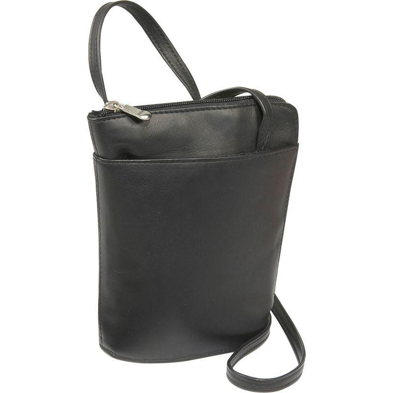 ルドネレザー メンズ ボディバッグ・ウエストポーチ バッグ L-Zip Mini Black