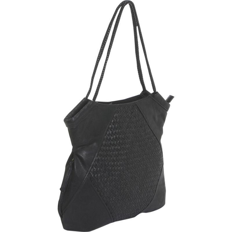デレクアレクサンダー メンズ トートバッグ バッグ Inset Top Zip Black