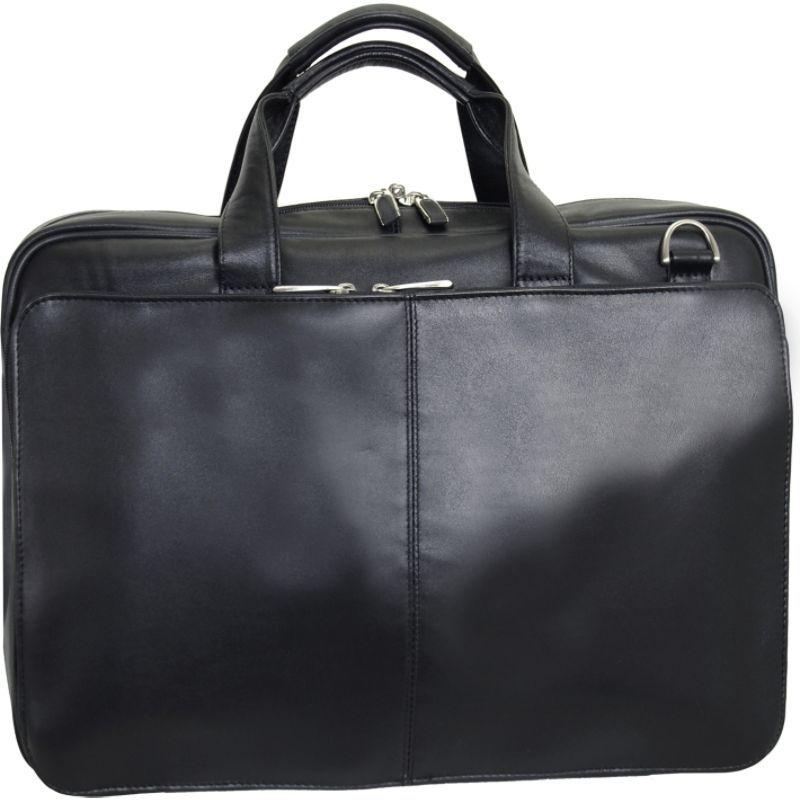 ネットパック メンズ スーツケース バッグ Leather Laptop Business case Black