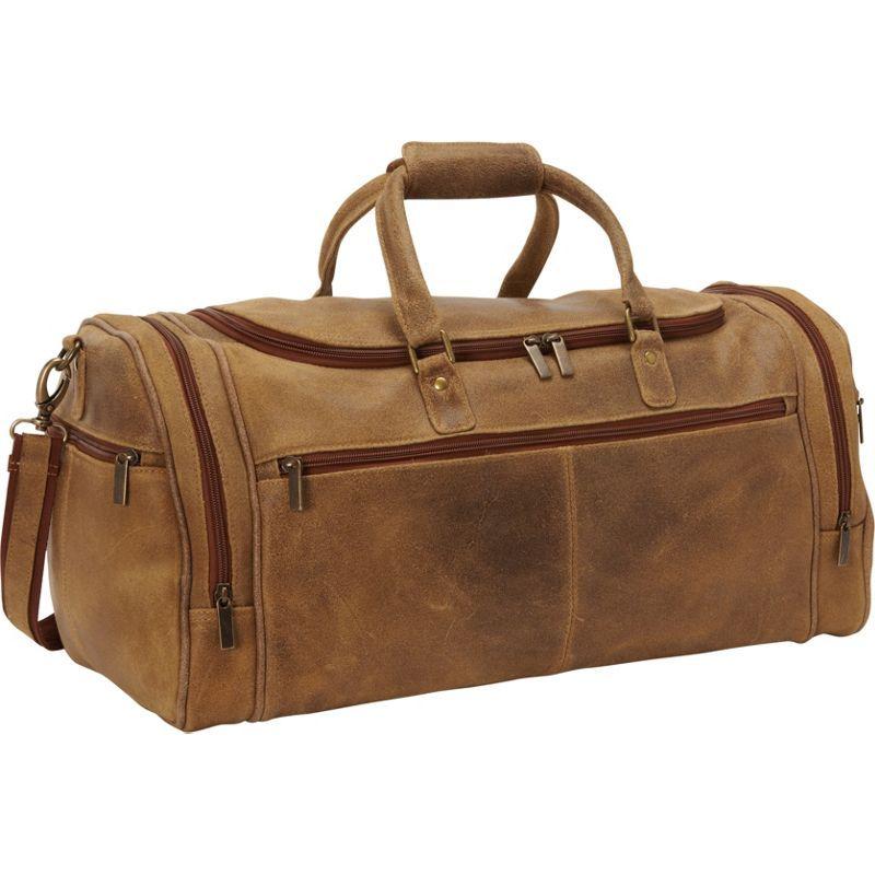 ルドネレザー メンズ スーツケース バッグ Distressed Leather Overnighter Duffel Tan