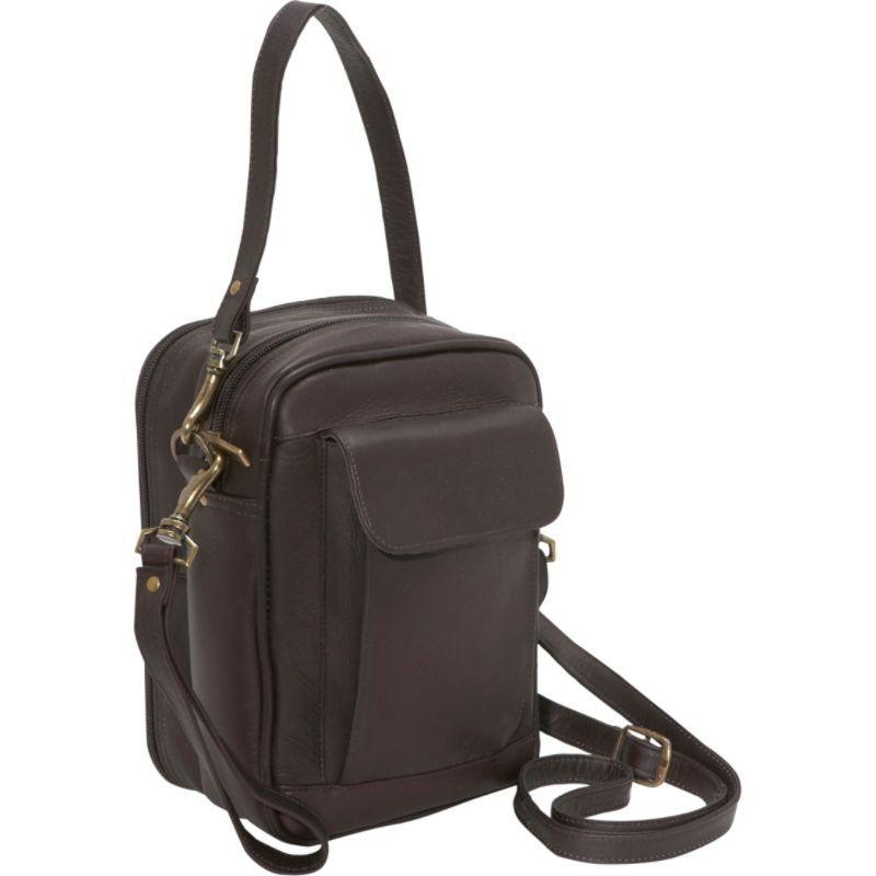 デビッドキング メンズ ショルダーバッグ バッグ Man Bag With Organizer Cafe