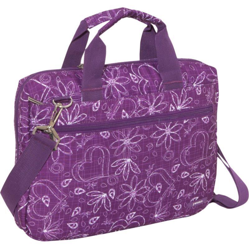 ジャイワールドニューヨーク メンズ スーツケース バッグ Research Laptop Bag Love Purple