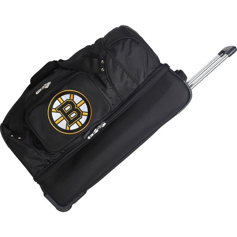 デンコスポーツ メンズ スーツケース バッグ NHL 27 Drop Bottom Wheeled Duffel Bag Boston Bruins