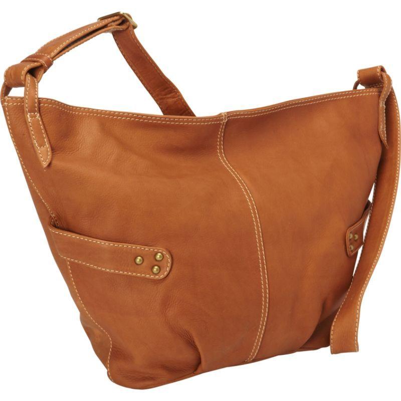 デレクアレクサンダー メンズ ショルダーバッグ バッグ Large E/W Slouch Bag Cognac