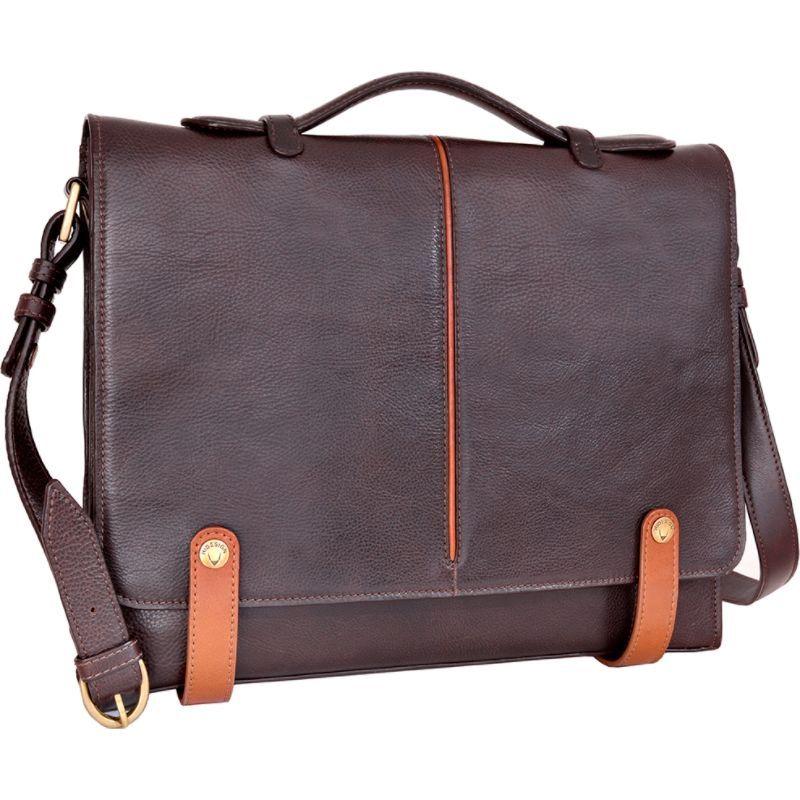 ハイデザイン メンズ スーツケース バッグ Eton Leather 15 Laptop Compatible Briefcase Work Bag Brown