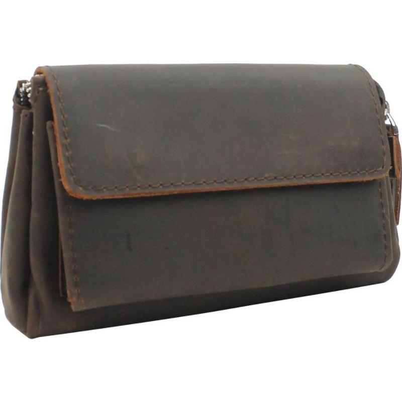 ヴァガボンドトラベラー メンズ セカンドバッグ・クラッチバッグ バッグ 8.5 Large Leather Clutch Bag Dark Brown