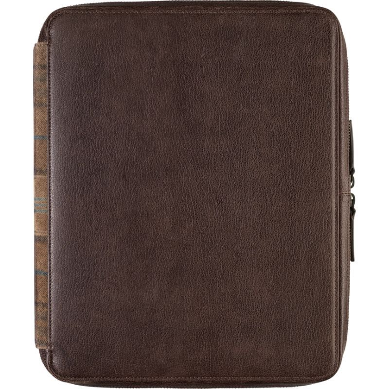 ジョンストンアンドマーフィー メンズ PC・モバイルギア アクセサリー Zip Folio With iPad Sleeve Brown