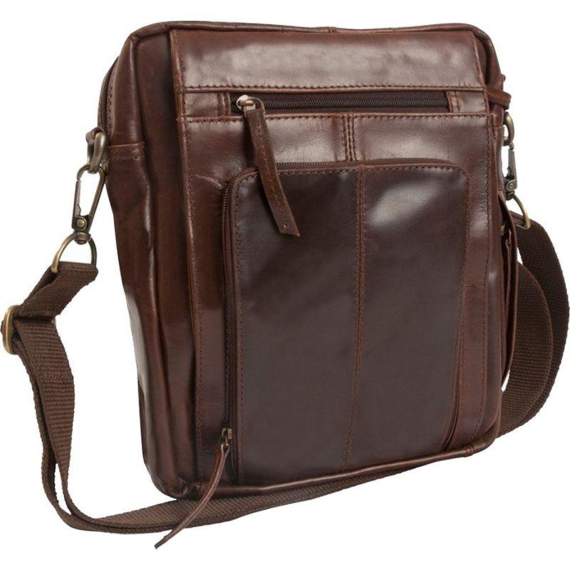 キャニオンアウトバック メンズ ショルダーバッグ バッグ Leather Monterey Canyon Leather Media Bag Brown