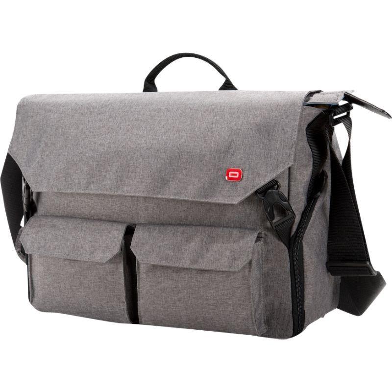 オキシオ メンズ スーツケース バッグ Sheenko III Laptop Messenger Light Grey