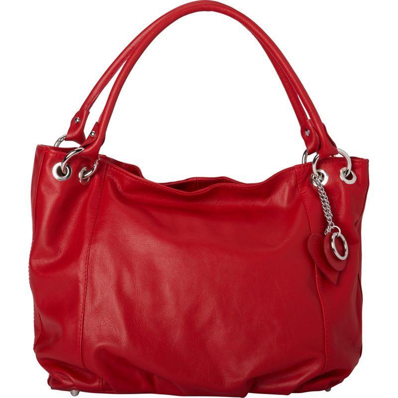 シャロレザーバッグス メンズ トートバッグ バッグ Italian Leather Tote and Shoulder Bag Red