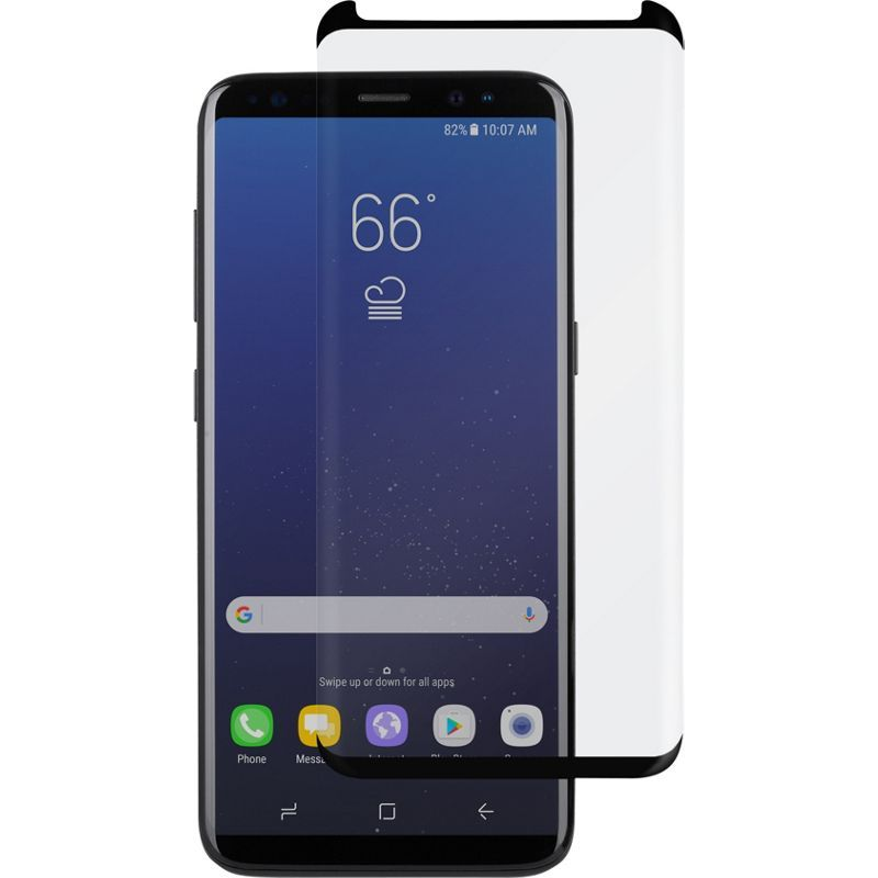 モシ メンズ PC・モバイルギア アクセサリー IonGlass for Galaxy S8 Clear w/ Black Border