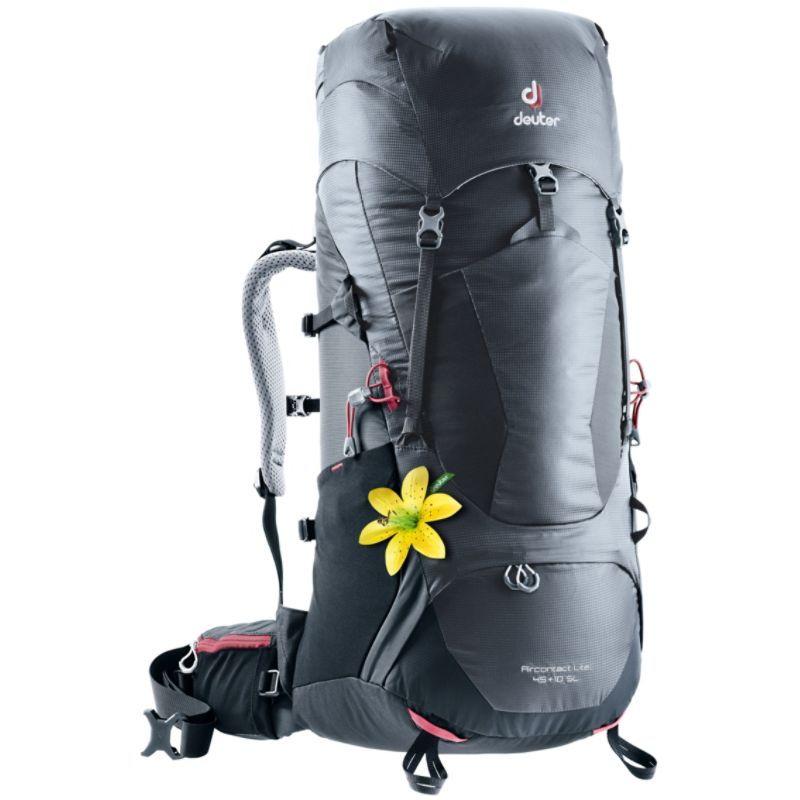 ドイター レディース バックパック・リュックサック バッグ Womens Aircontact Lite 45 + 10 SL Hiking Pack Graphite/Black