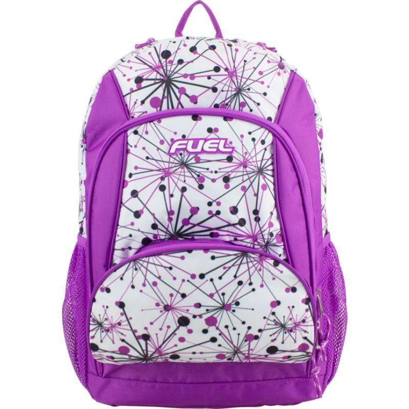 フュエル メンズ バックパック・リュックサック バッグ Girls Multi-Pocket Deluxe School Backpack Grape Star Print