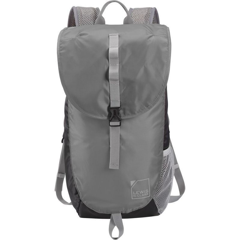 ルイスエヌクラーク メンズ バックパック・リュックサック バッグ Lightweight Day Pack Backpack Black/Gray