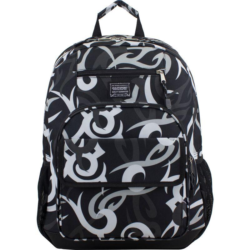 イーストポート メンズ バックパック・リュックサック バッグ Tech Backpack Black Tribal Print