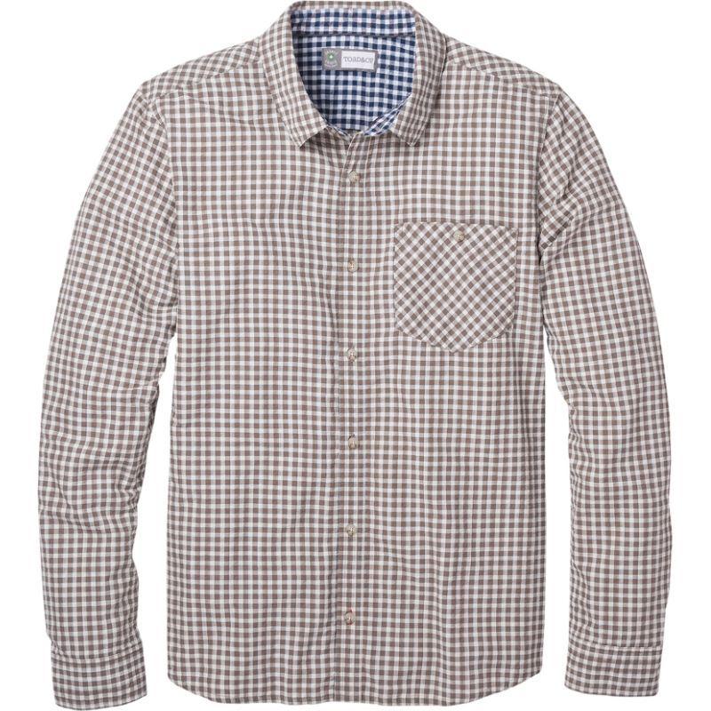 トードアンドコー メンズ シャツ トップス Mens Debug Lightness Long Sleeve Shirt Falcon Brown