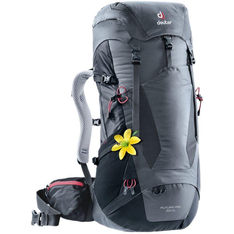 ドイター レディース バックパック・リュックサック バッグ Womens Futura PRO 38 SL Hiking Pack Graphite/Black(47010)