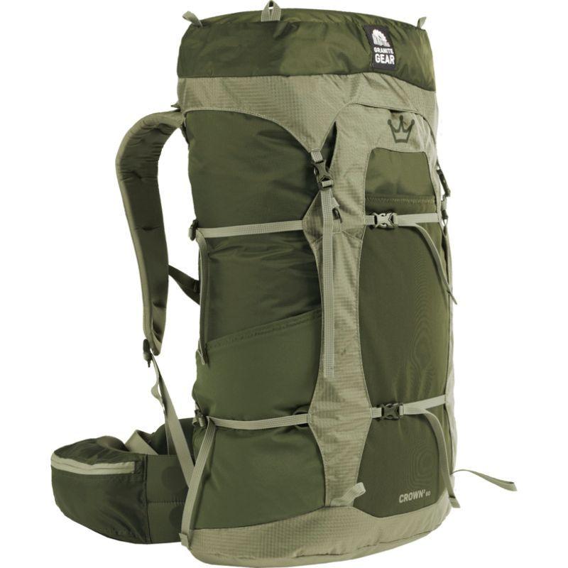 グラナイトギア レディース バックパック・リュックサック バッグ Womens Crown2 60L Hiking Pack Fatigue - Short Torso