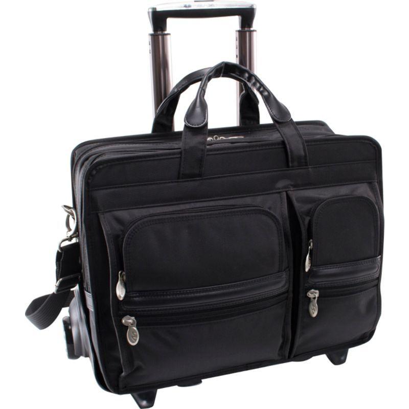 マックレイン メンズ スーツケース バッグ Clinton Nylon Detachable Wheeled 17 Laptop Case Black