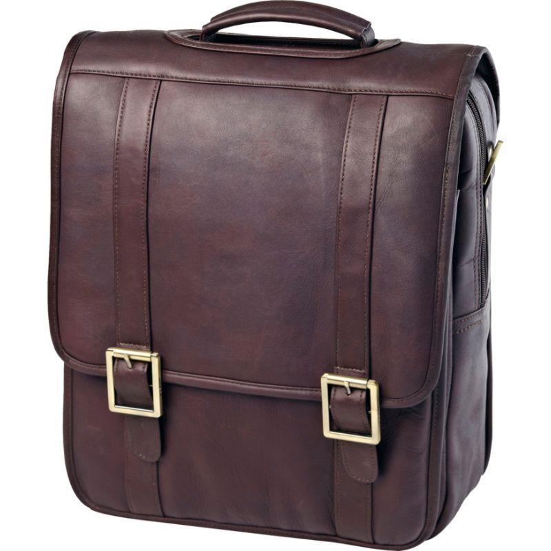 クレバ メンズ スーツケース バッグ Vachetta Leather Upright Porthole Brief Vachetta Cafe