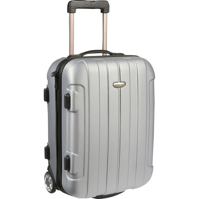 トラベラーズチョイス メンズ スーツケース バッグ Rome 20 in. Hardside Rolling Carry-On Silver Grey