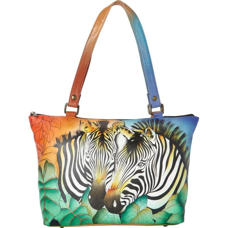 アンナバイアナシュカ メンズ トートバッグ バッグ Hand Painted Large Tote Zebra Safari