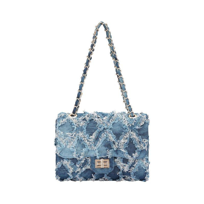 ダセイン メンズ ボディバッグ・ウエストポーチ バッグ Distressed Denim Crossbody /Messenger Bag Blue