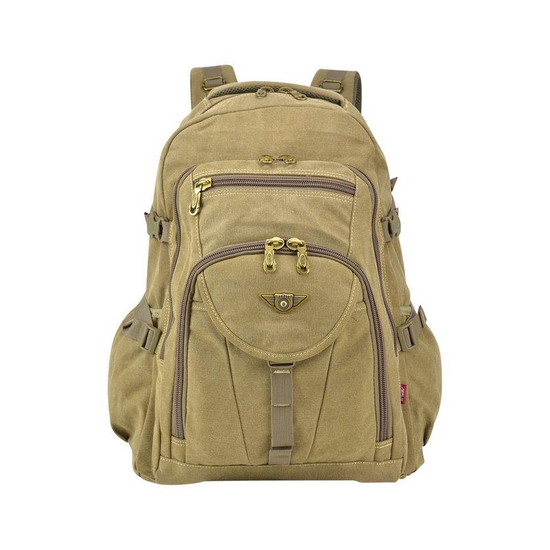ダセイン メンズ スーツケース バッグ Outdoor Vintage Canvas Laptop Backpack Tan