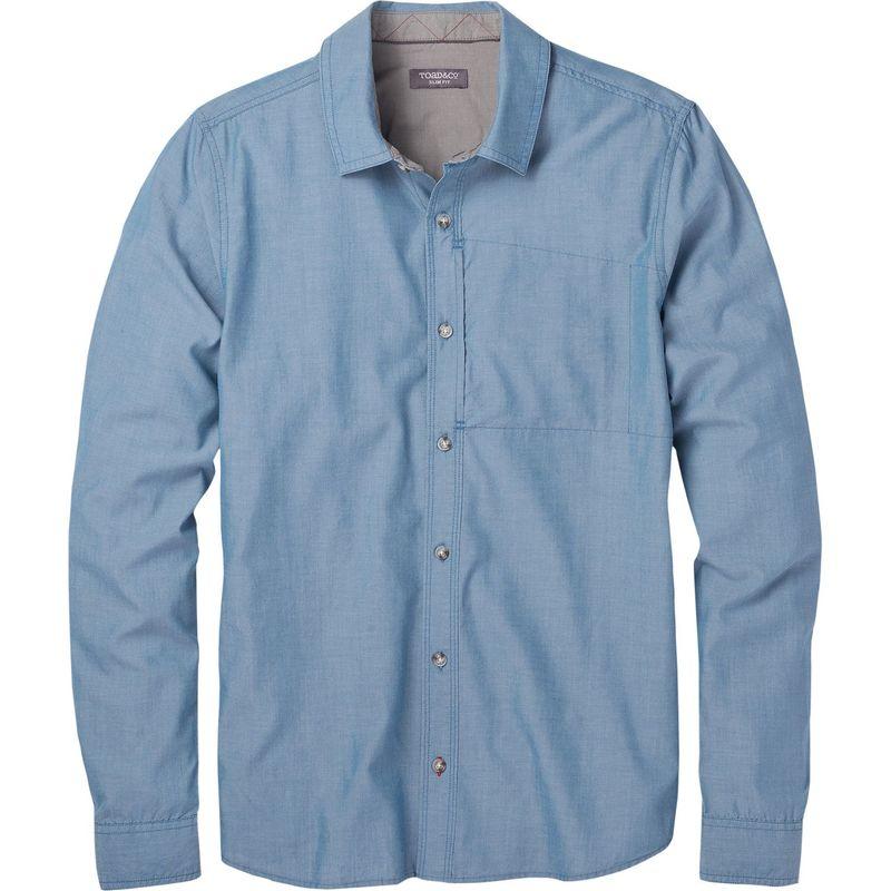 トードアンドコー メンズ シャツ トップス Mens Cutler Long Sleeve Slim Shirt Bright Indigo