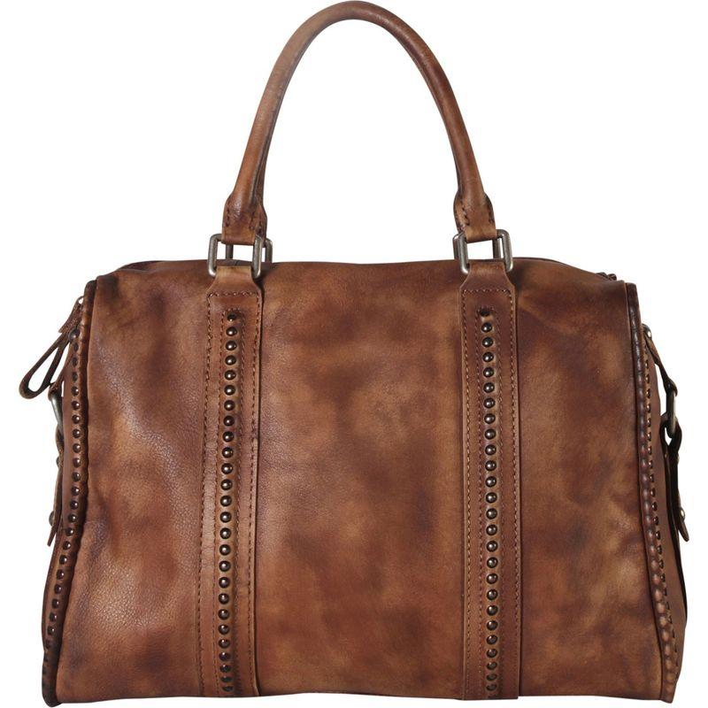 ディオフィ メンズ トートバッグ バッグ Distressed Doctor-Style Large Tote Brown