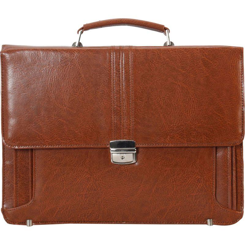 ディオフィ メンズ スーツケース バッグ Push Lock Briefcase Brown