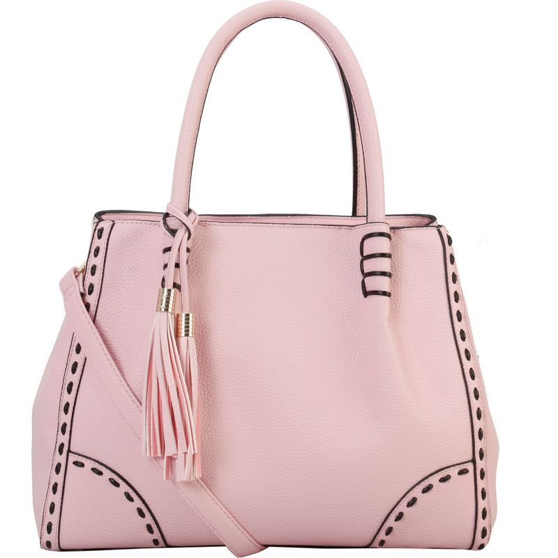 ディオフィ メンズ トートバッグ バッグ Woven Edging Large Tote Pink