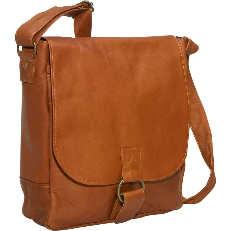 デビッドキング メンズ スーツケース バッグ Vertical Laptop Messenger Tan