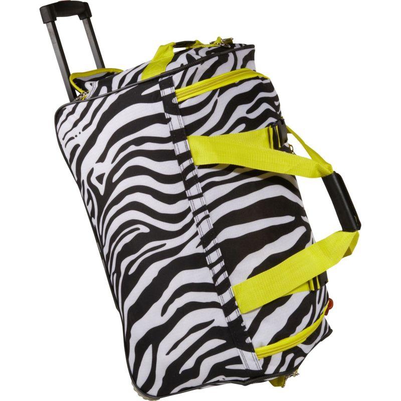 ロックランド メンズ スーツケース バッグ 22 Rolling Duffle Bag Lime Zebra