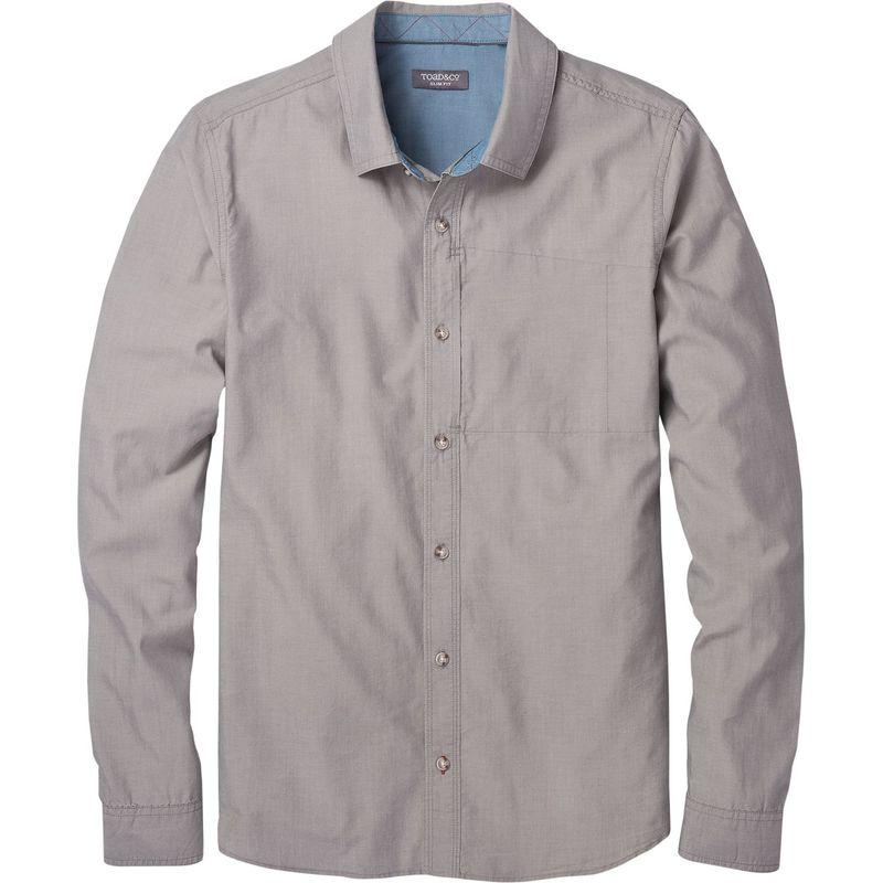 トードアンドコー メンズ シャツ トップス Mens Cutler Long Sleeve Slim Shirt Smoke