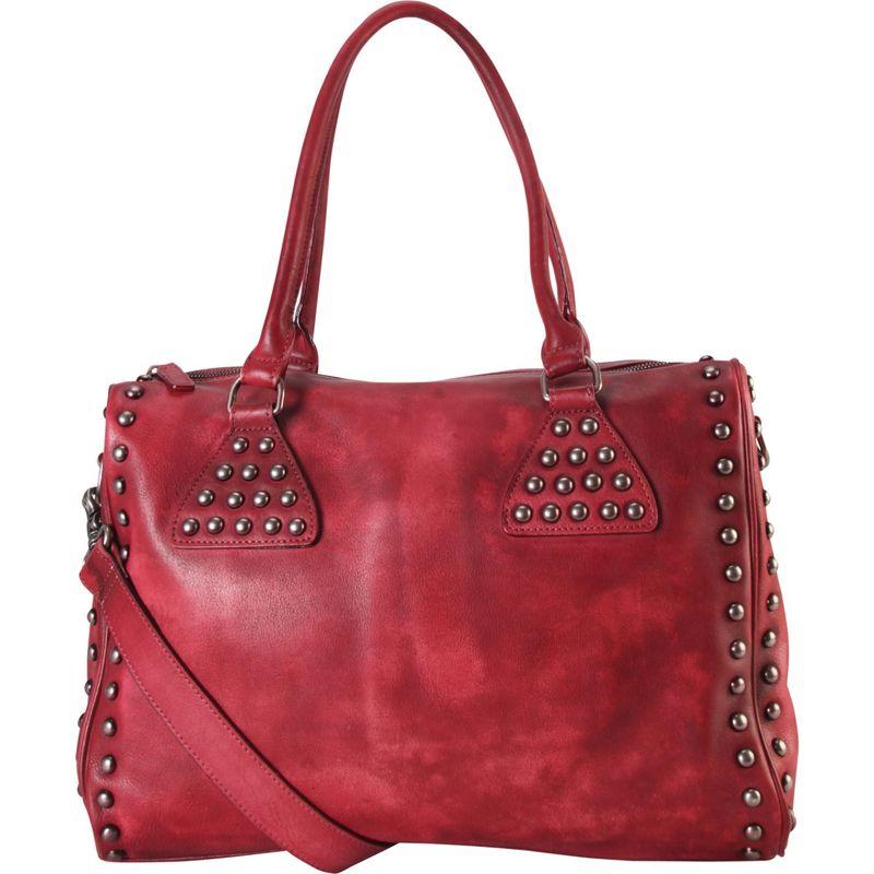 ディオフィ メンズ トートバッグ バッグ Studded Large Tote Red