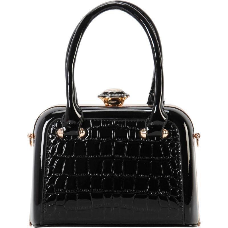 ディオフィ メンズ トートバッグ バッグ Shiny Medium Structured Tote Black