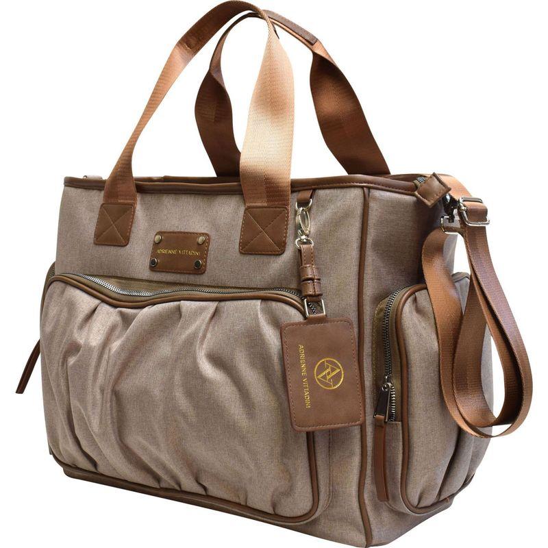 アドリアンヌヴィッタディーニ メンズ スーツケース バッグ Nylon Multi-Pocket Laptop Tote Cognac