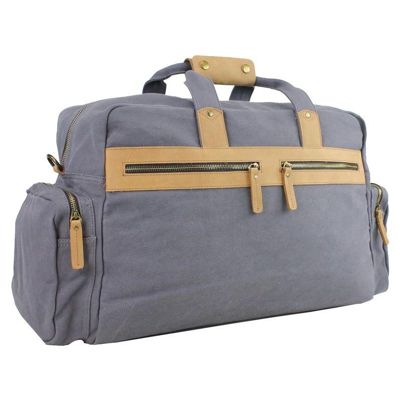 ヴァガボンドトラベラー メンズ スーツケース バッグ Classic Large Canvas Duffle Travel Bag Blue Grey