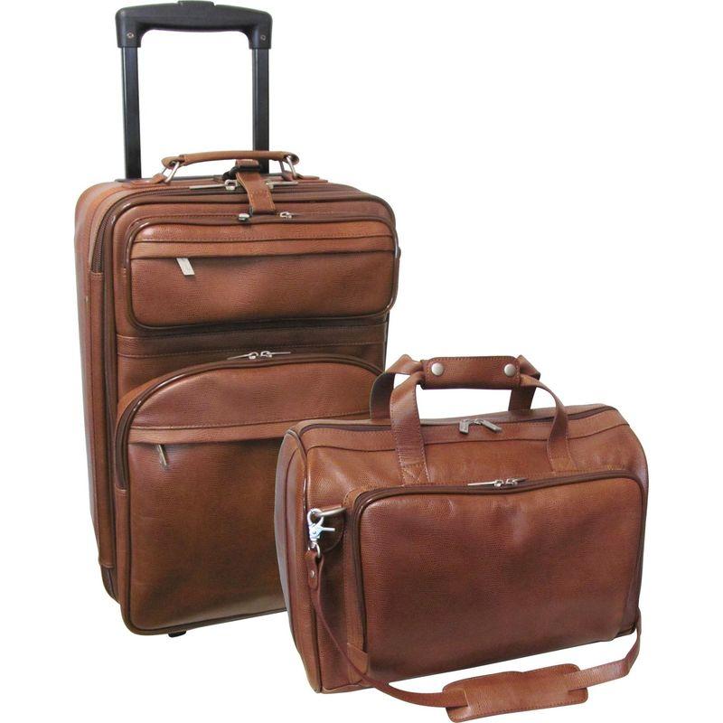 アメリ メンズ スーツケース バッグ Leather 2 Pc. Carry-On Set Brown