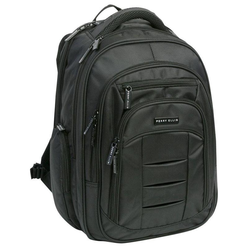 ペリーエリス メンズ スーツケース バッグ M150 Business Laptop Backpack Black
