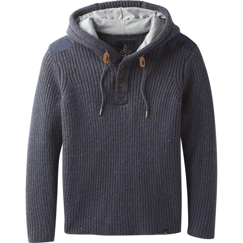 プラーナ メンズ ニット・セーター アウター Hooded Henley Sweater Coal