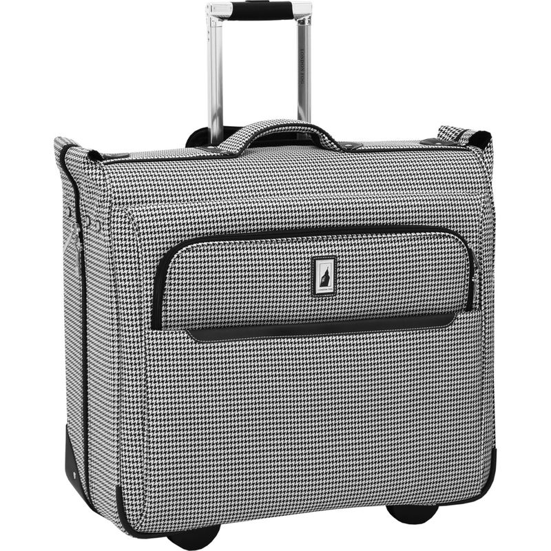 ロンドンフォグ メンズ スーツケース バッグ Cambridge II 44 Wheeled Garment Bag Black White Houndstooth