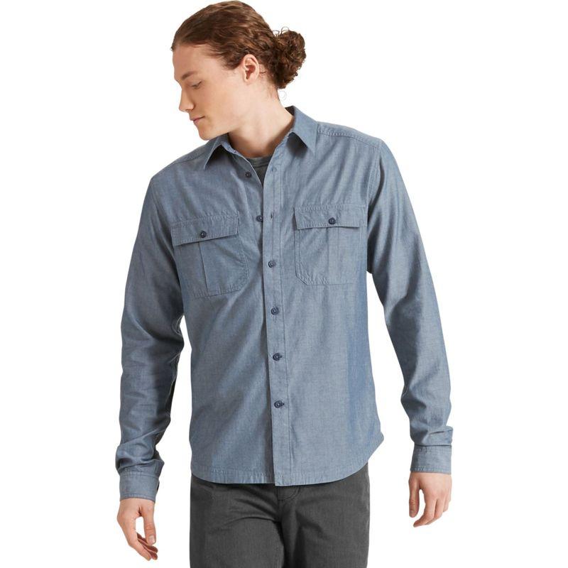 ナウ クロージング メンズ シャツ トップス Mens Long Sleeve Twisted Shirt Space