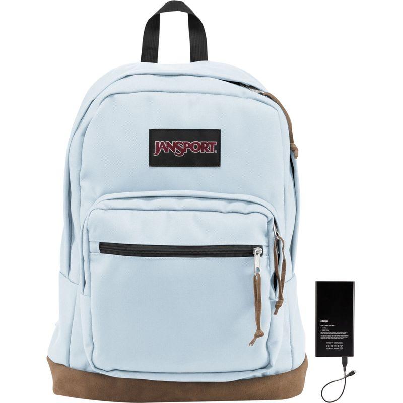 ジャンスポーツ メンズ バックパック・リュックサック バッグ Right Pack Laptop Backpack 15 w/ Lifeboat Battery Palest Blue
