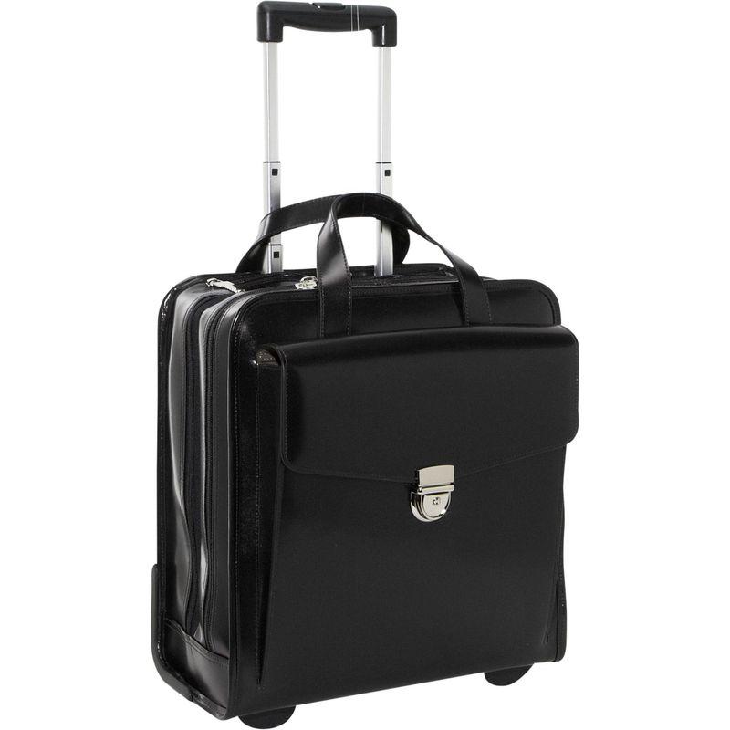 ジャックジョージス メンズ スーツケース バッグ Milano Collection Vertical Laptop Compatible Wheeler Black