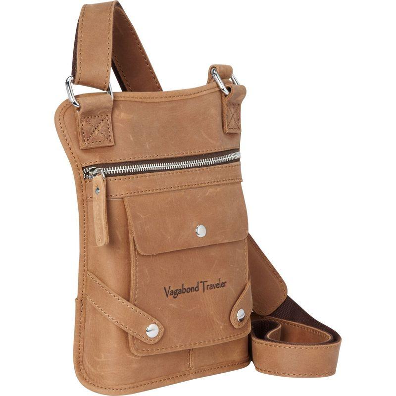 ヴァガボンドトラベラー メンズ ショルダーバッグ バッグ FREELANCER - Leather Shoulder Bag for Kindle Fire Nature Brown