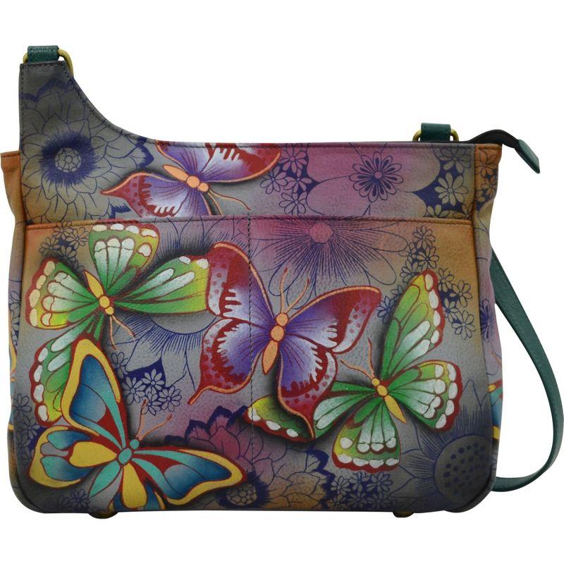 アンナバイアナシュカ メンズ ボディバッグ・ウエストポーチ バッグ Hand Painted Medium Crossbody Butterfly Paradise
