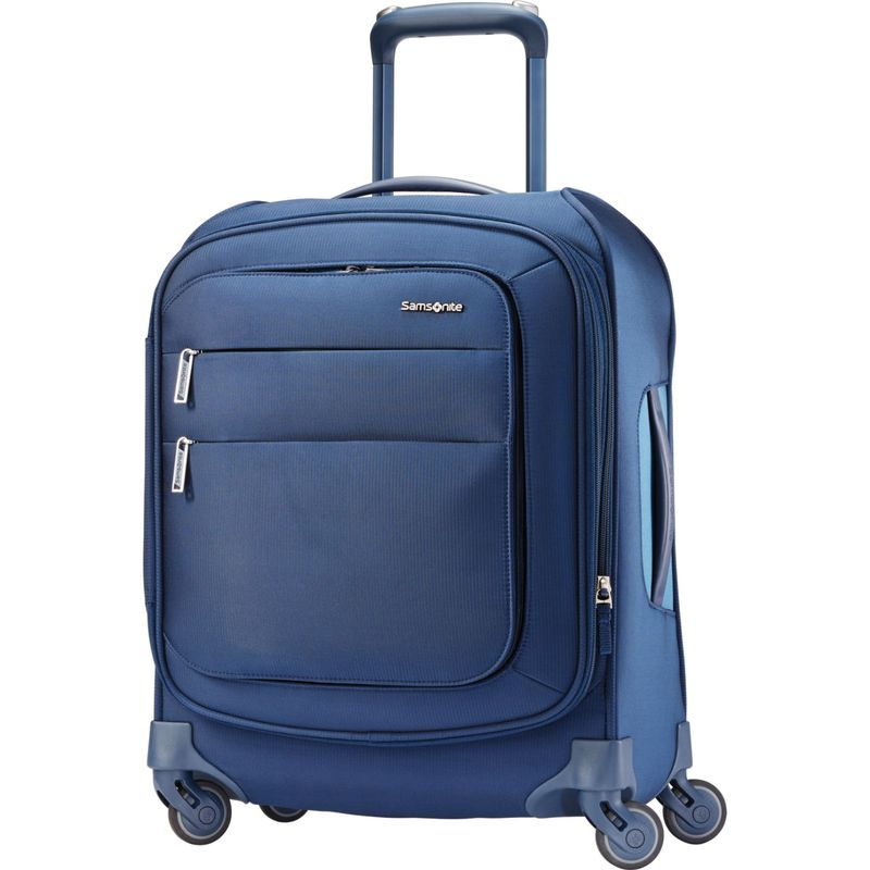サムソナイト メンズ スーツケース バッグ Flexis 19 Expandable Spinner Carry-On w/USB Port Carbon Blue