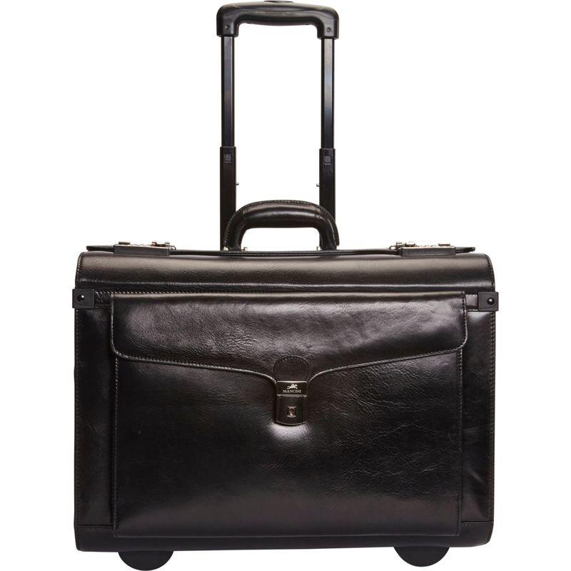 マンシニレザーグッズ メンズ スーツケース バッグ Deluxe Wheeled Catalog Case Black